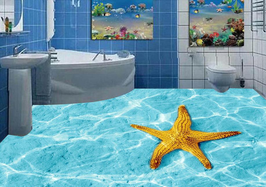 3d flooring room self adhesive wallpaper custom 3d floor Starfish sea water ripples 3d murals flooring photo wallpaper 3d flooring room self adhesive wallpaper custom 3d floor dolphin coral 3d murals flooring