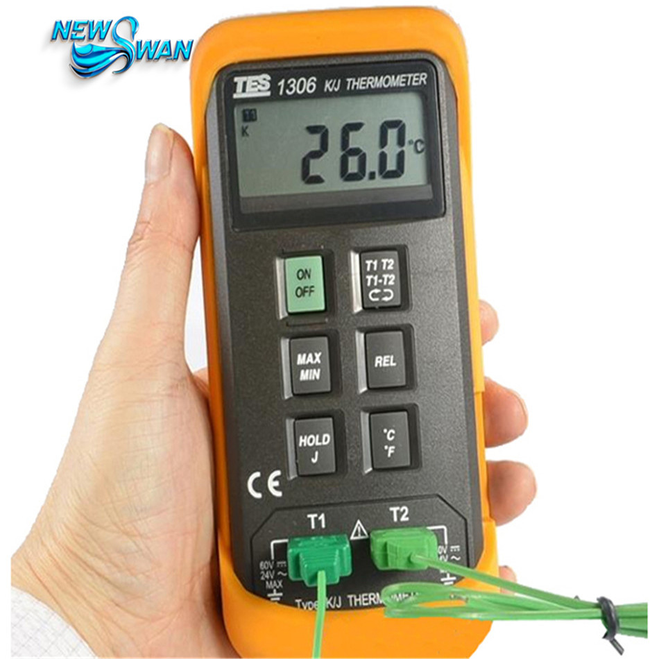 Digital Industrial Thermometer K/J Type thermocouple input TES1306