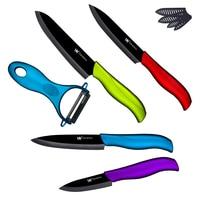 XYj Brand Black Blade Ceramic Knife Set 3 4 5 6 Paring Utility Slicing Chef Knife
