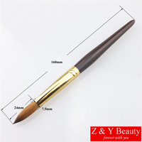 Hot Sale Factory Direct SIZE 16 100 Kolinsky Nail Brush Acrylic Nail Brush Wooden Series