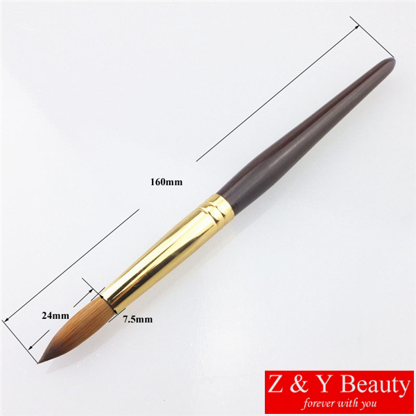 Hot Sale! Factory Direct,Size 16,Kolinsky Acrylic Nail Brush Wooden #16,Free Shipping osaka acrylic nail kolinsky brush 14
