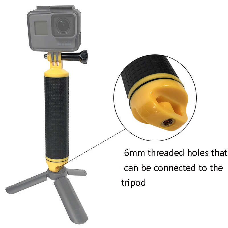 High Quality Buoyancy Stick Floating Hand Grip Handle Diving Stick for Xiaomi YI Gopro Hero 8 7 6 5 4 Action Camera Accessories-0