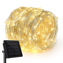 Solar Charger Copper Wire Led String light Waterproof LED Holiday Outdoor led strip Christmas Party Wedding Garland Decoration