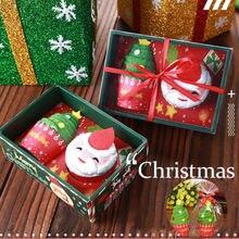 Санта Клаус Снеговик Рождественская елка хлопок супер мягкое полотенце вечерние Декор подарок