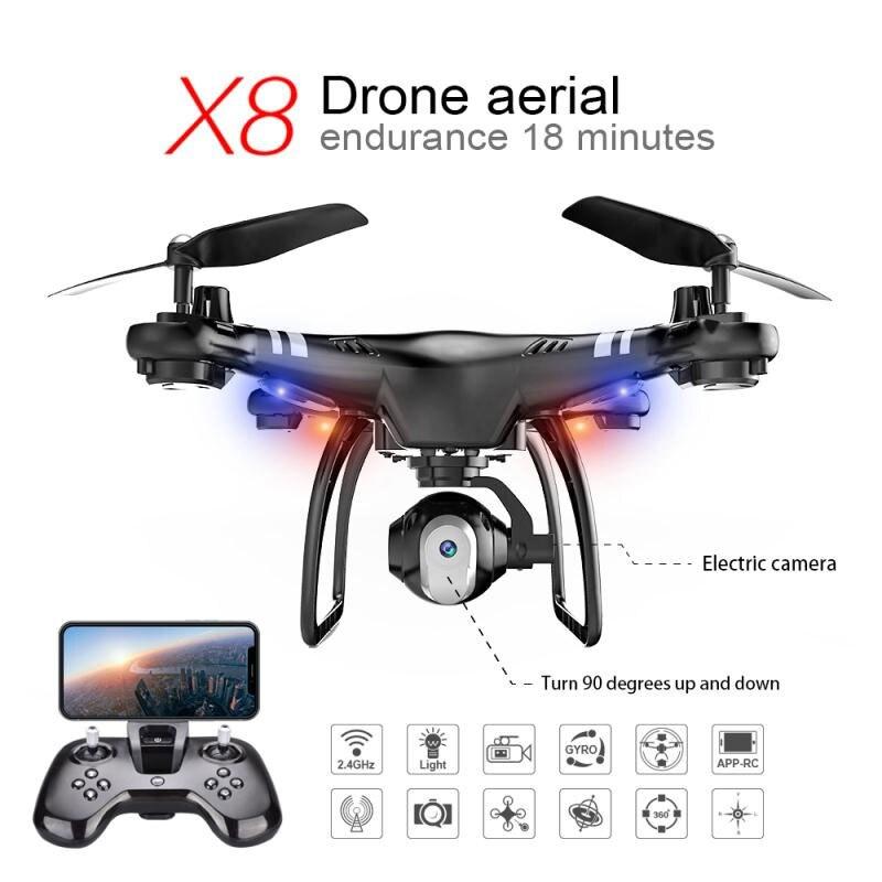 X8 RC réglable Drone HD caméra Endurance 18 Min hélicoptère g-sensor 360 degrés roulement Stable cardan quadrirotor