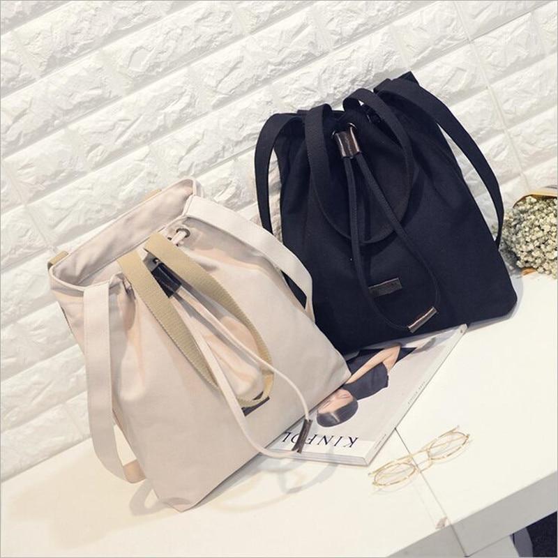 2016 korean tassels weave handbag fashion concise single shoulder package woman package Fashion Shoulder Oblique cross package women handbag Leisure Korean version of canvas Messenger Bag Ladies Portable Shoulder Bag