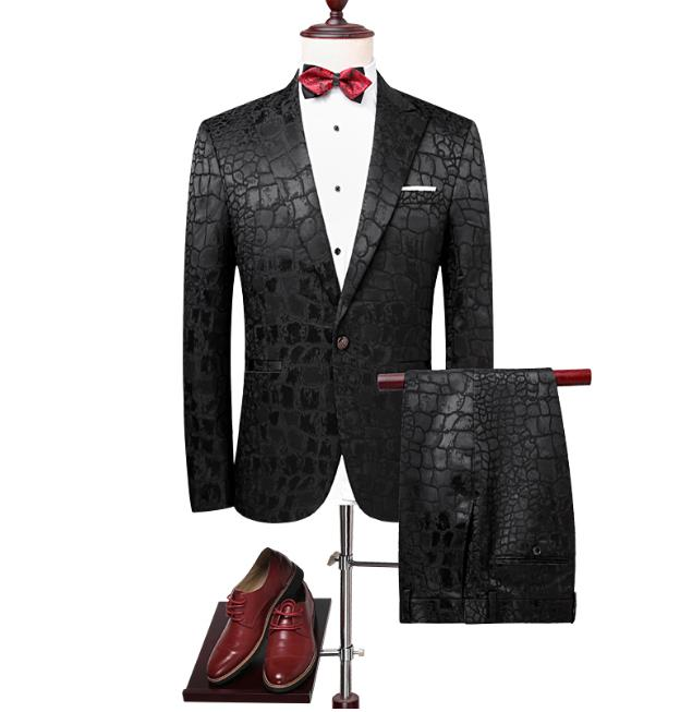 2019 Custom Slim Fit Men's High Quality Single Button Wedding Business Suits Men With Jacket And Pants Costume Homme Terno Traje