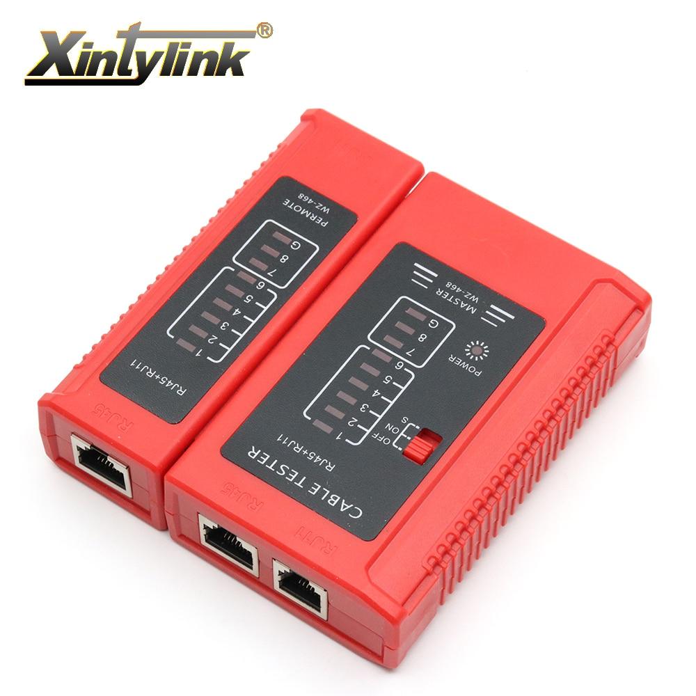 Xintylink red rj45 probador herramienta de RJ11 rj12 8 P 6 P teléfono de línea 8p8c 6p4c cable de ethernet cable principal serie remoto de prueba