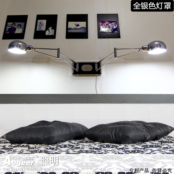 Led wall lamp modern minimalist bedroom bedside lamp rocker stud wall hanging creative reading lights with dimmer switch FG660