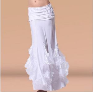 Image 4 - HOT SALE! new crystal cotton belly dance skirt for women belly dance crimping skirts  belly dance competition clothes