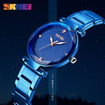 цена на SKMEI Relogio Feminino Women Watch Elegant Top Brand Luxury Ladies Fashion Casual Women Wristwatch Stainless Steel Quartz Watch