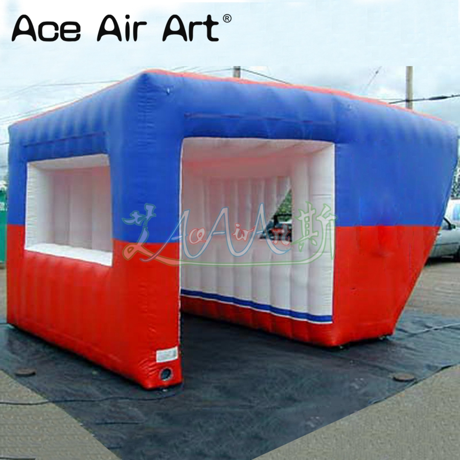 Customized inflatable ice cream kiosk,concession booth/foods shop/sale station with removable banners for party