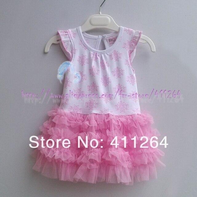 6145e83ce6 4pcs lot(1-4Y) wholesale girls dress tulle tutu dress chiffon tutu kids  wear children clothing flower girl dress free shipping