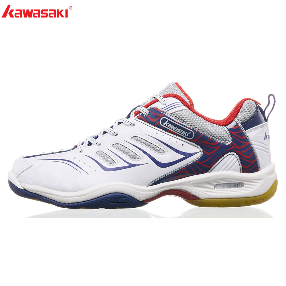 2018 NEW Kawasaki Sneakers  Badminton Shoes Indoor Court Sports Shoe Blue Anti-Slippery Encapsulated Light K-156