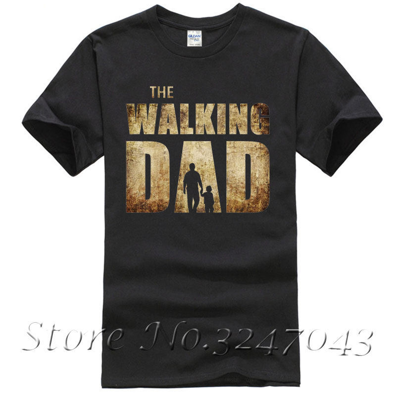 The Walking Dad Parody Father Son Fathers Day Mens T-Shirt 100 % Cotton T Shirt For Boy