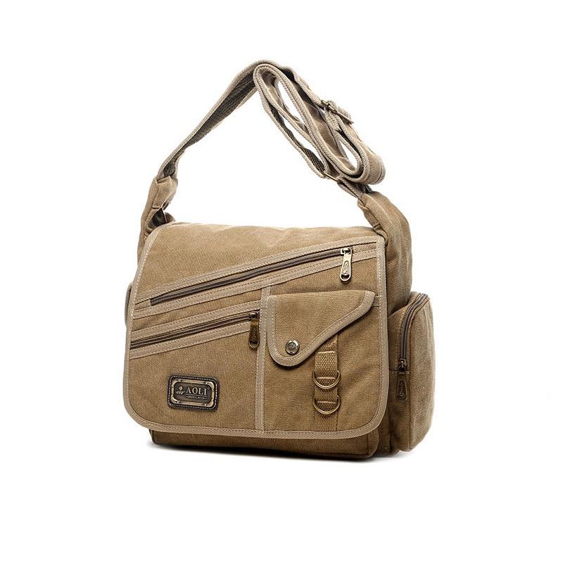 Ruil Crossbody bag New Multifunction Men bag Retro handbags Women Canvas Bags Shoulder Messenger Bags Leisure