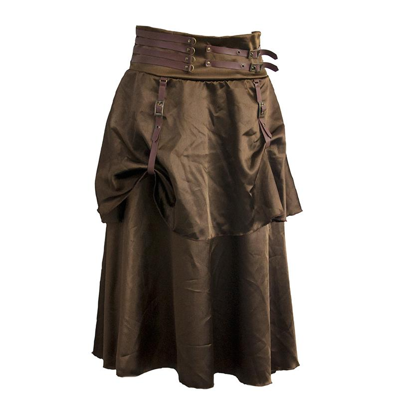 Long Brown Leather Skirt Promotion-Shop for Promotional Long Brown ...