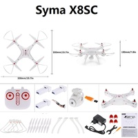 Upgraded X8C Syma X8SC 2MP HD Camera RC Drone 2.4G 4CH 6Axis Altitude Hold Headless Mode RC Quadcopter with 3pcs battery
