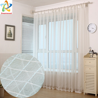 Modern Simple White Voile Curtains Wild Match Window Tulle High Quality Living Room Sheer