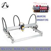 A3 Pro DIY Laser 2 Axis Desktop Writing Robot Painting Robot Laser Engraving Machine,Working Area 30CM*38CM