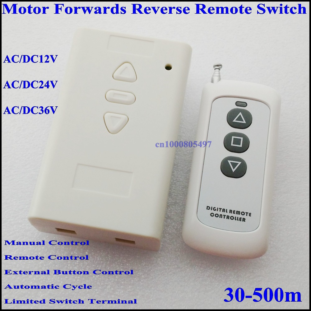 AC / DC 12V 24V 36V Motor Remote Control Switch Motor Forwards ...