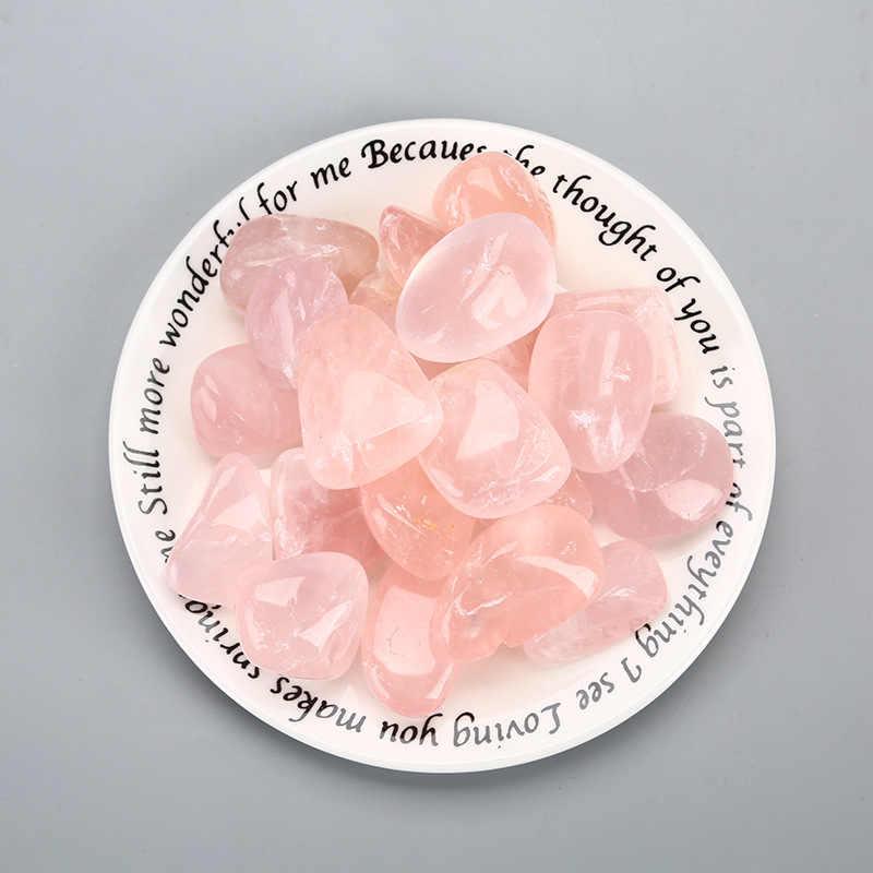 1 Pcs Alami Citrine Asli Turmble Batu Partikel Yang Lebih Besar Kuarsa Kristal Berwarna Merah Muda Kristal Dekorasi Waktu D3