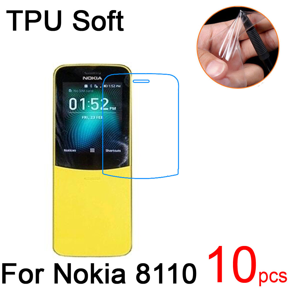 10pcs Ultra Clear TPU Soft For Nokia 8110 4G LTE 2018 Screen Protector cover For Nokia 8110 4G LTE 2018 Protective Film+cloth