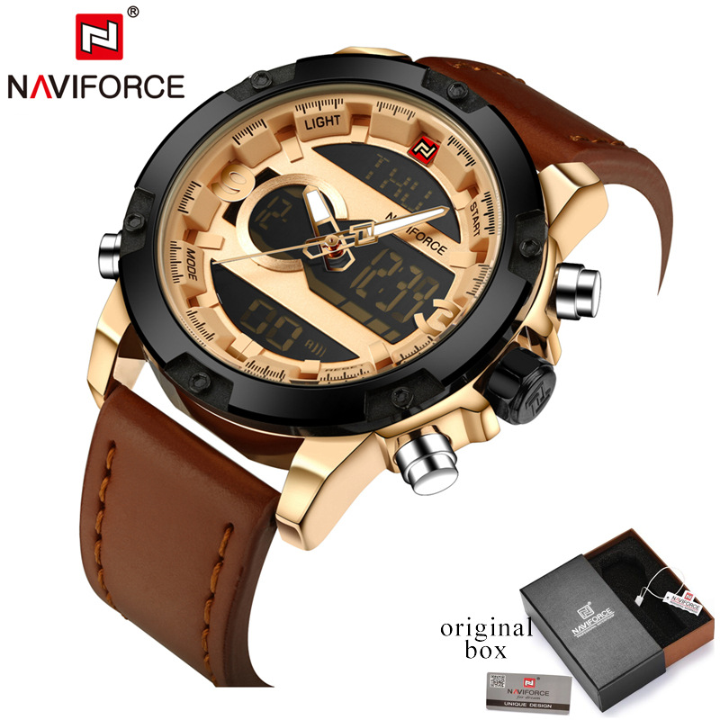 Top Luxury Brand NAVIFORCE Men Full Steel Watches Men's Quartz Analog Watch Man Fashion Swim Sports Army Military Wrist Watch 2016 men s brand naviforce fashion sports watches men 3d dial quartz watch man nylon strap army military wrist watches