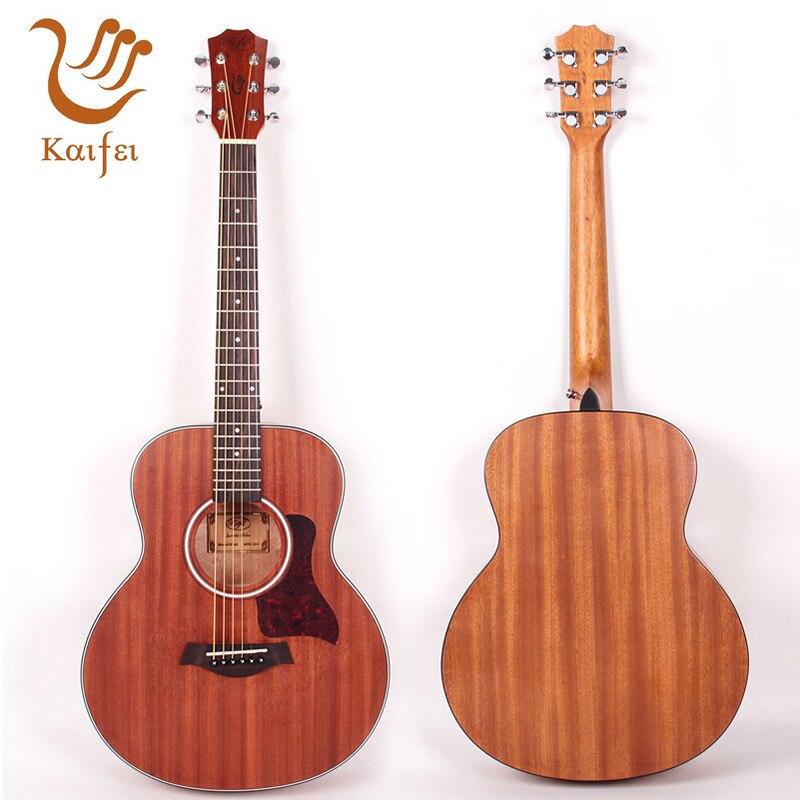 36 inch Guitar Mahogany Folk Travel Guitar With Bag
