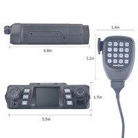 vhf uhf Ham נייד רדיו משדר VHF 75W UHF 55W צריכת חשמל גבוהה נייד לרכב רדיו Dual Band Quad המתנה לרכב משדר תחנת (3)