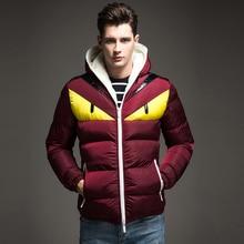 2017 New Fashion Design Men's Winter Jacket Big Eye Contrast Cotton-padded Parka Puffer Hooded Coat Veste Homme Hiver