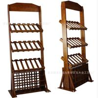 Vertical Wooden Frame Pine Wooden Wine Rack 42 Bottles Of Wine Rack