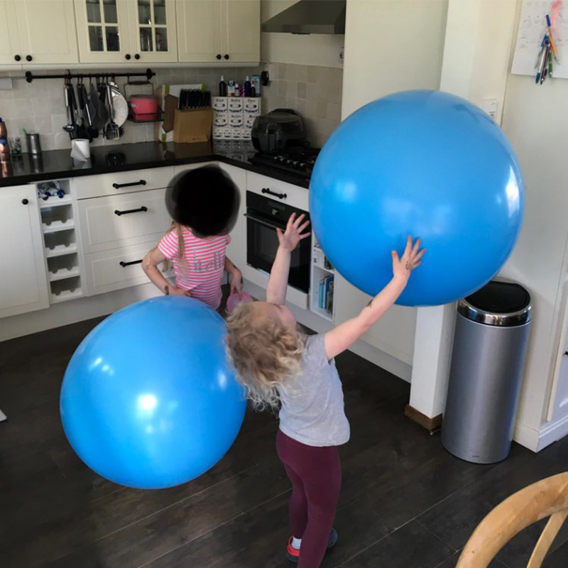 36 inch Jumbo Round Latex Balloons Big Balloon Beautiful Wedding Balloon Balls Arch Decoration in Ballons Accessories from Home Garden