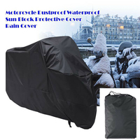 Waterproof Motorcycle Cover Scooter Motor Cruiser Outdoor UV Protector Black Sun Protection