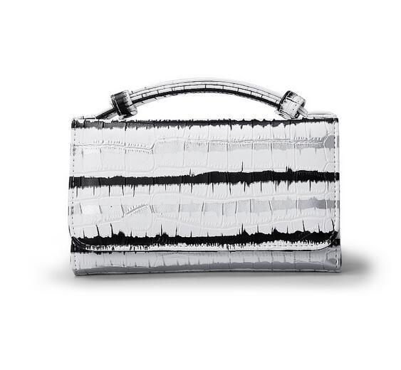 OZUKO новые сумки из натуральной кожи для женщин сумка Роскошные сумки на плечо для женщин дизайнер животных крокодил узор телефон клатч - Цвет: bai tiaowen