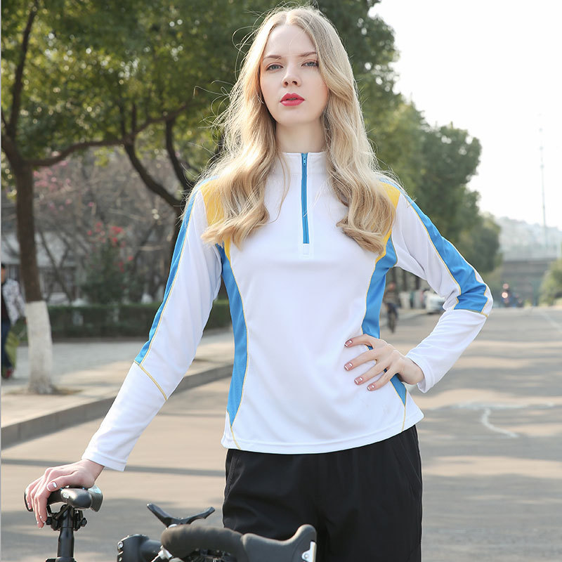 Autumn Thin Women T-Shirts white sun protection slim fit 3 D CUT running sports top quick dry breathable hiking camping t shirt