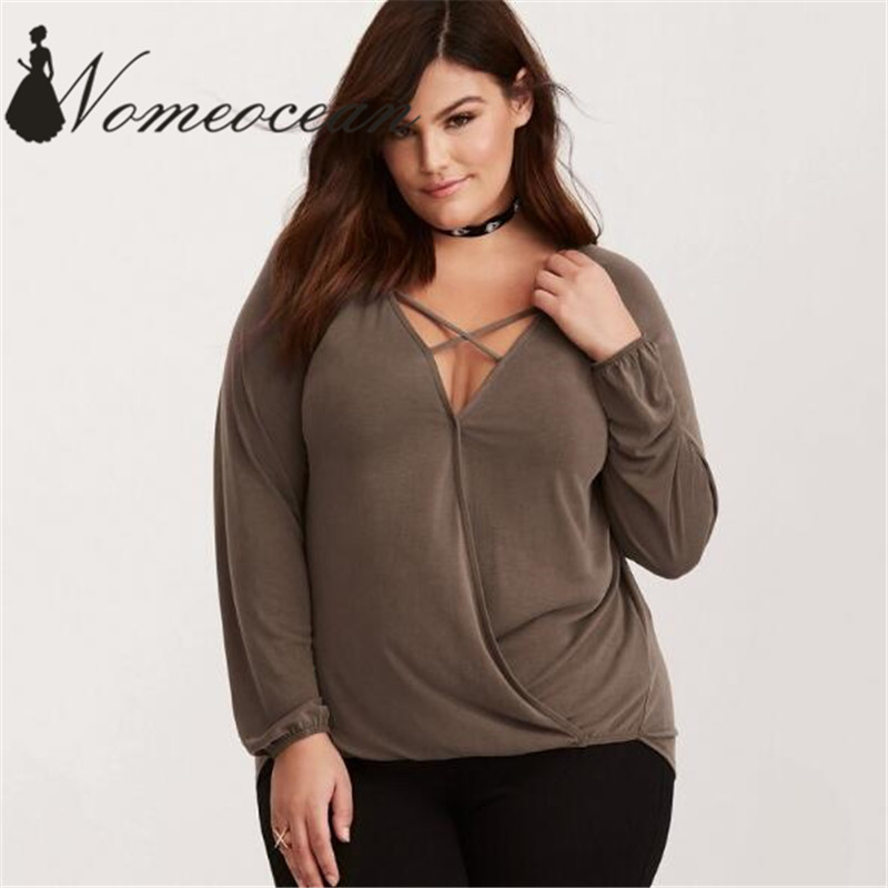 Blouses & Shirts Sexy Off Shoulder Women Blouses Long Sleeve Bandage Loose Tops Plus Size Casual Solid Color Ladies Office Shirt Blusas L-4xl Good Heat Preservation