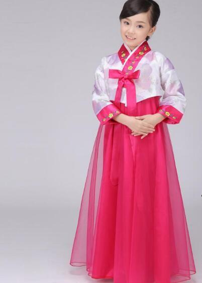 2016 hot Korean Traditional Dress Girls Hanbok Baby Clothes Korea Kid Costume