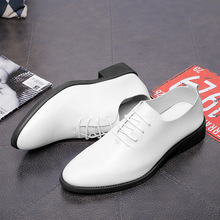 New Casual Men Shoes Fashion Dress Lace-Up Wear Comfortable Leather Wedding