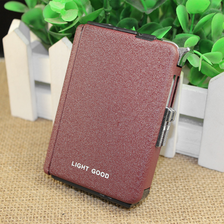 Image 5 - 2018 Cigarette Case Gas Lighter Cigar Box Torch Turbo Lighter Windproof Frosted Gas Butane Jet Hole 18 PCS No Gas-in Matches from Home & Garden