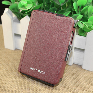 Image 5 - 2018 Cigarette Case Gas Lighter Cigar Box Torch Turbo Lighter Windproof Frosted Gas Butane Jet Hole 18 PCS No Gas