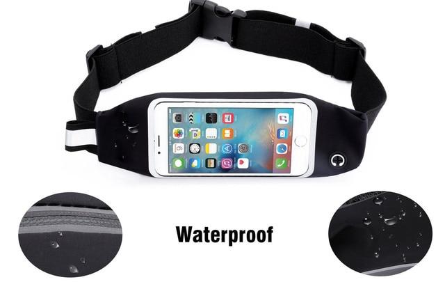 Gym Taille Sac Étanche Sport Accessoires Universel Téléphone Cas Poche Pour  iPhone 6 Plus Samsung Galaxy