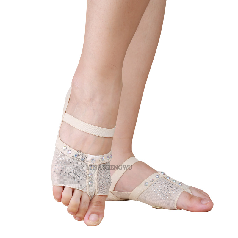 Belly Dancing Foot Thong Dance Socks Shoe Toe Pads Belly Dance Practice Socks Ballet Dance Shoes Accessories Professional