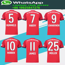 237b414503c 2019 25 MULLER Soccer Jersey 1819 home red Shirt Customized 11 JAMES 9  LEWANDOWSKI
