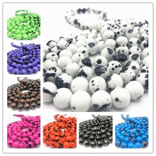 6 8 10 mm Beautiful Glass Loose Spacer Charm Beads Pattern Making Bracelet Necklace Jewelry DIY