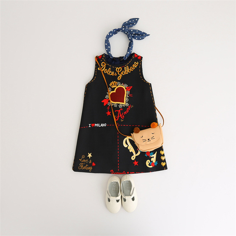 HTB1djZpaesAV1JjSZFsq6ydZXXa1 Girls Dress Spring Autumn European and American Style embroidery Flower vest dress toddler Baby Girls clothing 2-8Yrs
