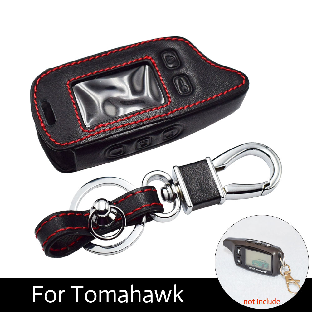 ATOBABI TW9010 TW9030 Leather Cover Case For Tomahawk TW9020 TW9030 Two Way Alarm LCD Remote Tomahawk TW 9010 9030 Protect Case