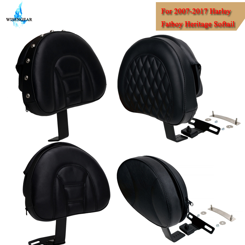 Motorcycle Adjustable Plug In Driver Rider Seat Backrest Pad Detachable For Harley Fatboy Heritage Softail 2007-2017 WISENGEAR /Motorcycle Adjustable Plug In Driver Rider Seat Backrest Pad Detachable For Harley Fatboy Heritage Softail 2007-2017 WISENGEAR /