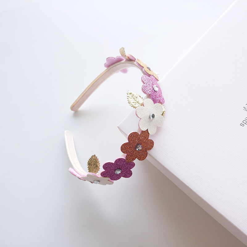 1 PCS New Cute Golden Leaves Flowers Kids Hair Hoop Baby Hairbands Princess   Headwear   Children Headbands Girls Hair Accessories