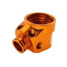6061 CNC mecanizado de piezas de aluminio más chorro de arena y tratamiento anodizado dorado